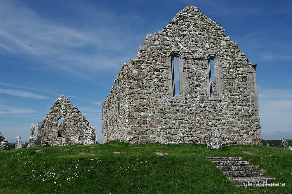 Church Ruins Clonmacnoise by Lyle McNamara