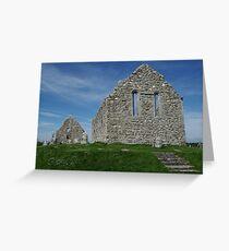 Church Ruins Clonmacnoise Greeting Card