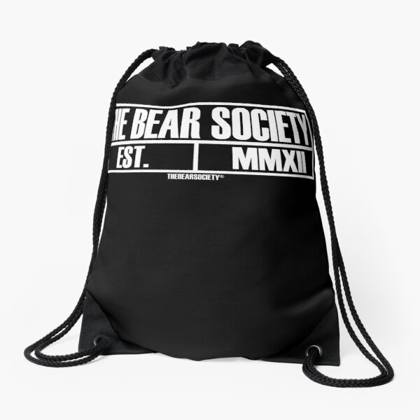 The Bear Society, Est. MMXII Drawstring Bag