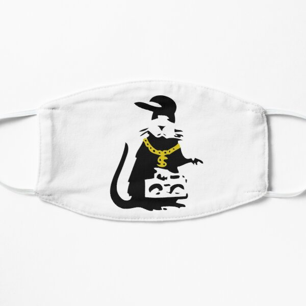 Banksy Gangsta Rat  Flat Mask