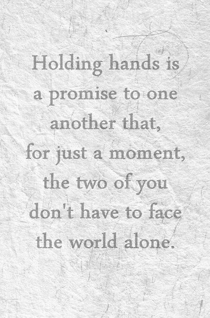 Holding hand is a promise by Blackberryninja