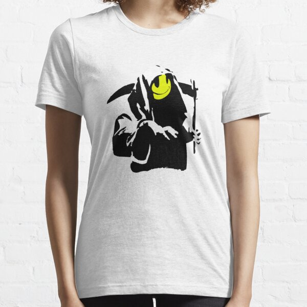 Banksy Happy Smiling Grim Reaper!  Essential T-Shirt