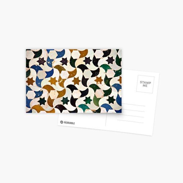 Alhambra azulejos Postal