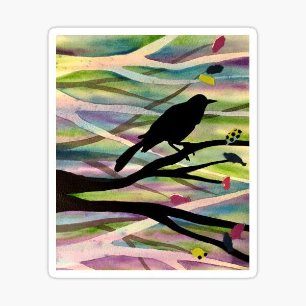 Raven Silhouette Sticker