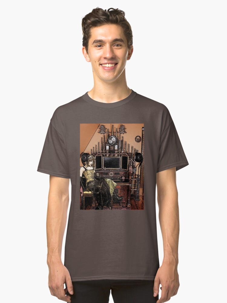 Steampunk girl Classic T-Shirt Front