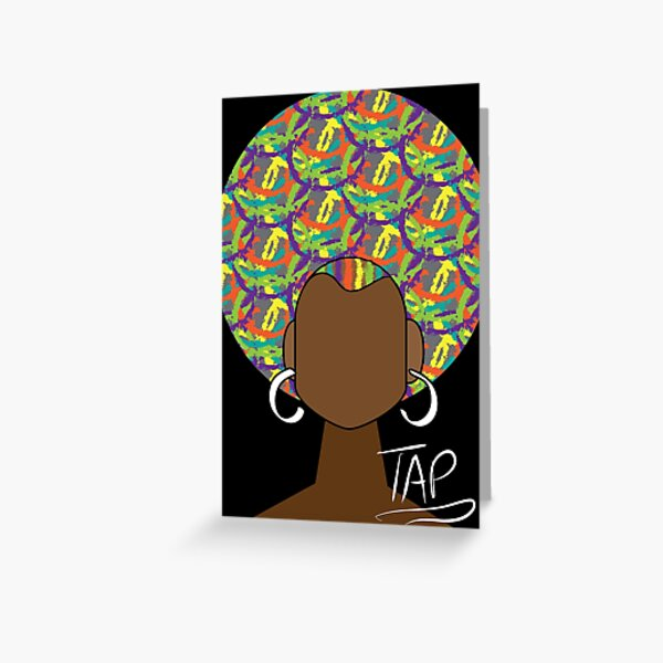 Colorfro Girl Greeting Card