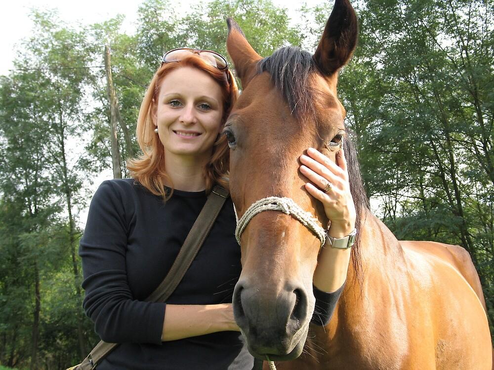 Zorana With Her Friend by branko stanic