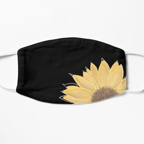 Single Sunflower  Flat Mask