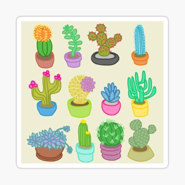 Plantes succulentes et cactus Sticker