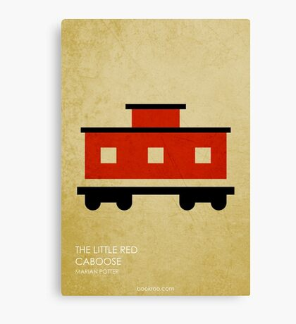 The Little Red Caboose Canvas Print