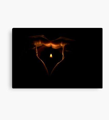 Flaming Heart Canvas Print