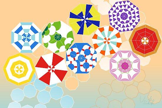 beach umbrellas by veerapfaffli