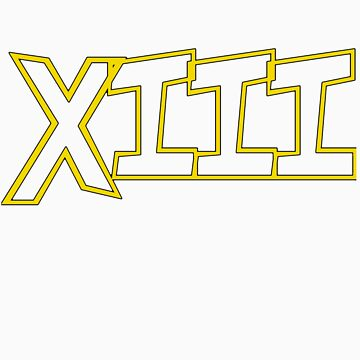 Roman Numerals for 13 :D my fav number... by KeithWoodpecker