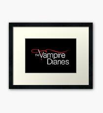 The Vampire Diaries Framed Print