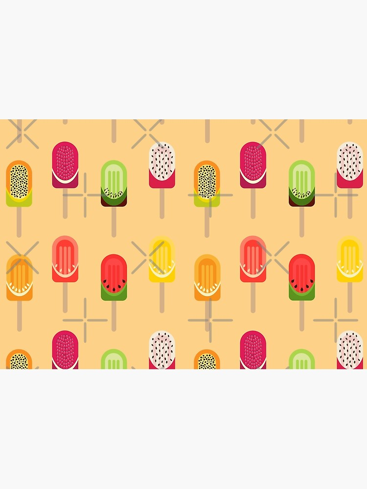 Fruit popsicles - Warm Yellow by PrintablesP