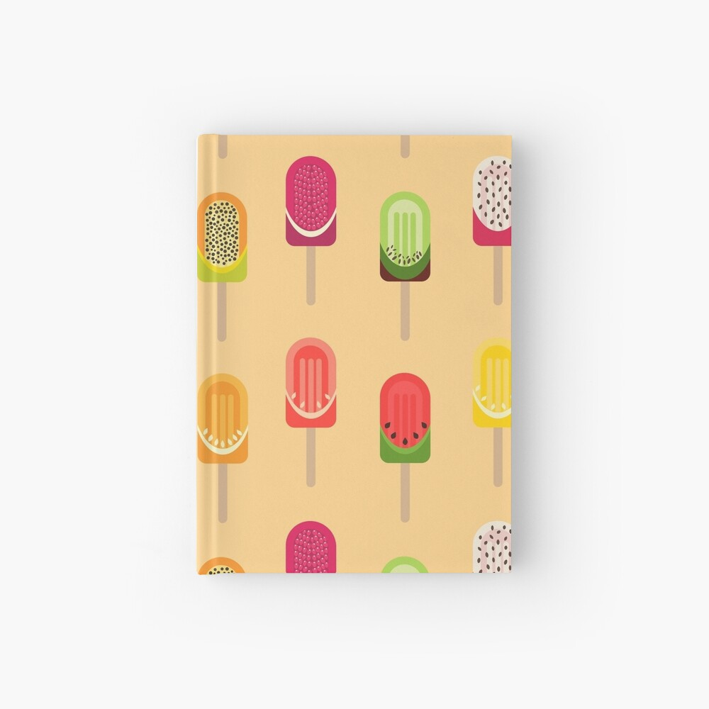 Fruit popsicles - Warm Yellow Hardcover Journal