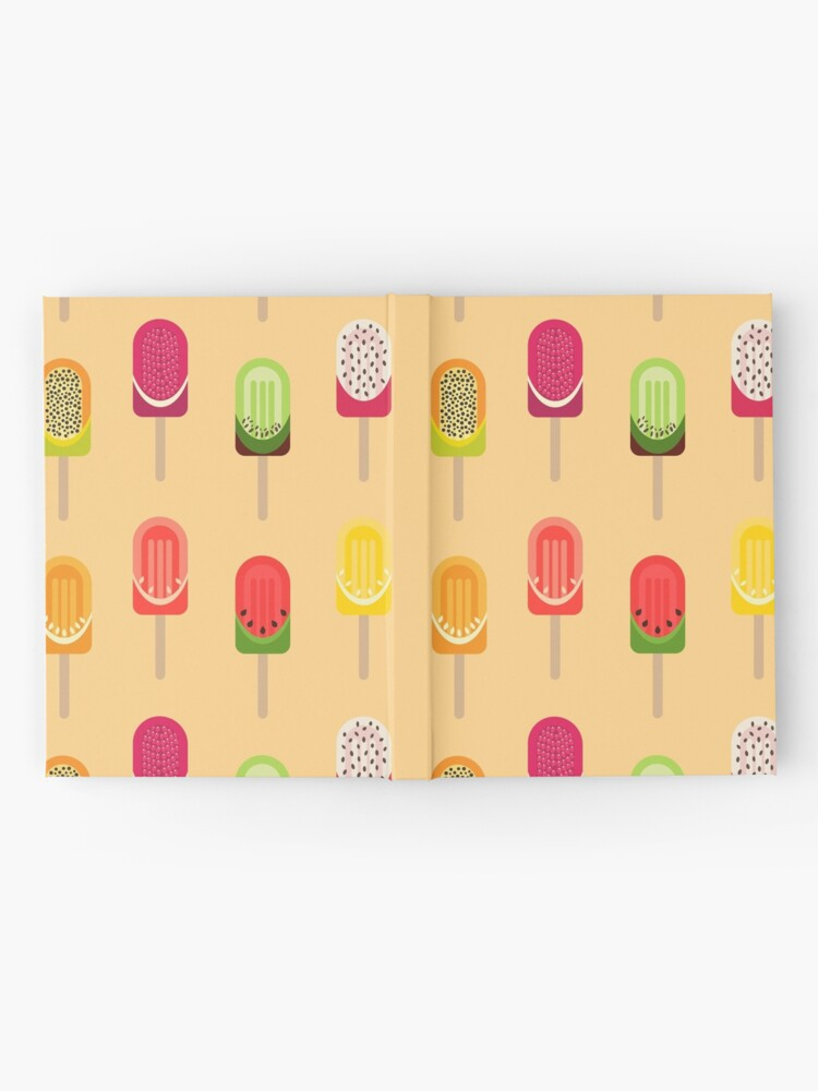 Alternate view of Fruit popsicles - Warm Yellow Hardcover Journal