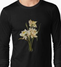 Double Narcissi In A Bouquet Isolated Long Sleeve T-Shirt
