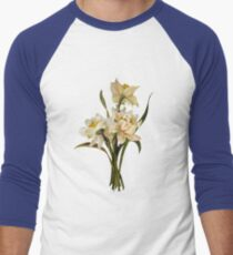 Double Narcissi In A Bouquet Isolated Men's Baseball ¾ T-Shirt
