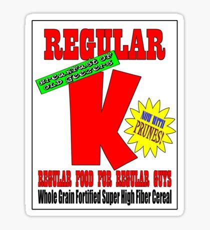 regular k cereal t Sticker