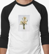 Double Narcissi In A Bouquet Men's Baseball ¾ T-Shirt