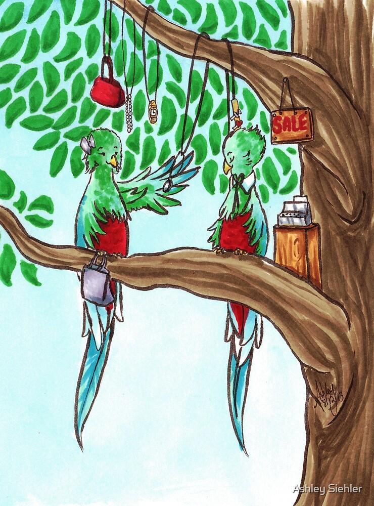 Shopping Quetzals by Ashley Weiler