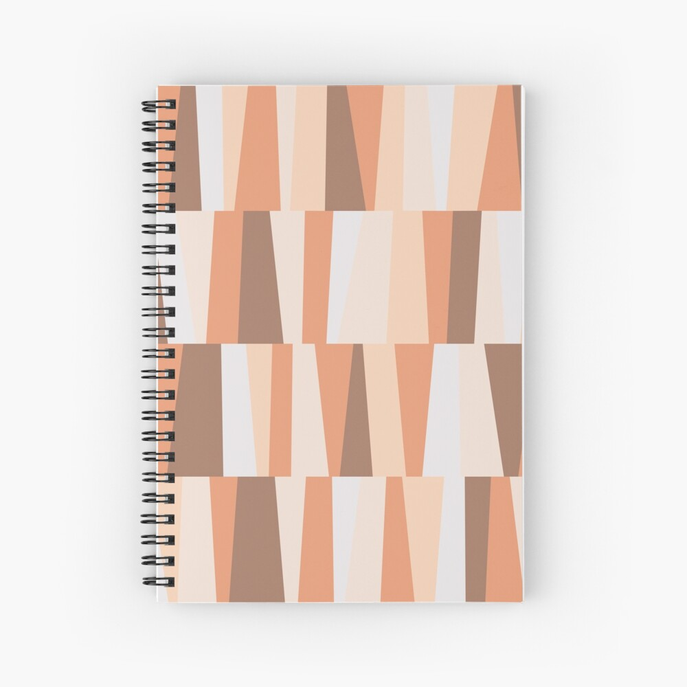 Earthy tones composition Spiral Notebook
