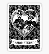 Amor Eterno | Eternal Love | Black and White Sticker
