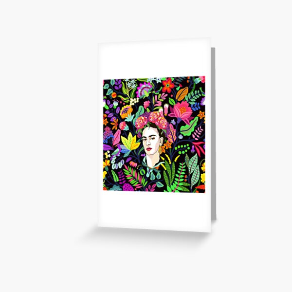 Frida in Bloom Greeting Card