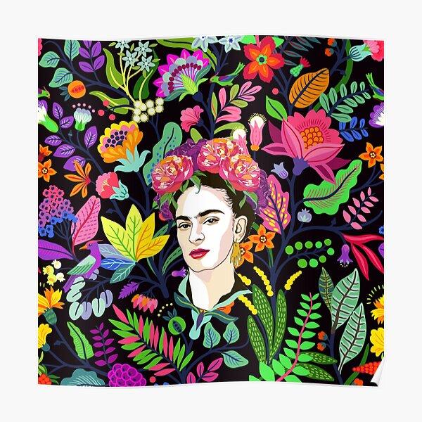 Frida en fleur Poster