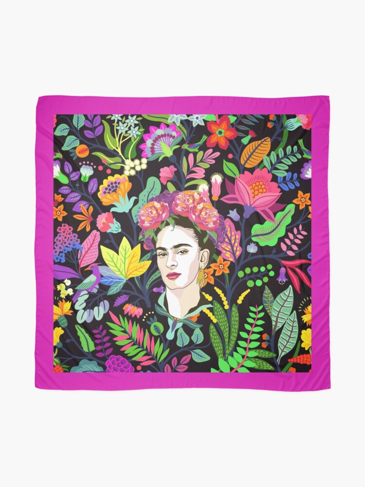 Alternate view of Frida in Bloom Scarf