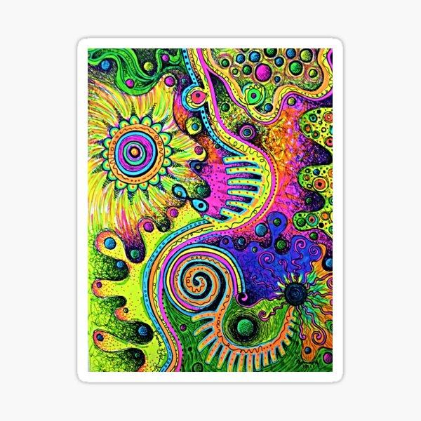 Swirly Doodles Sticker