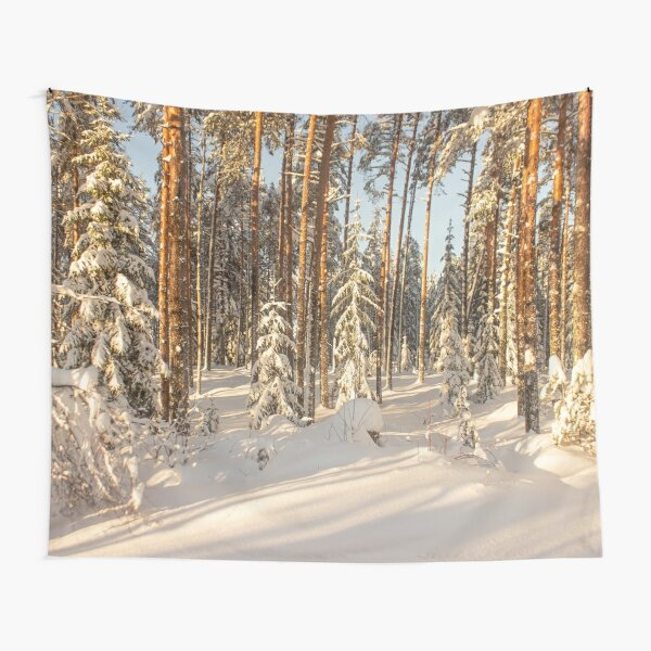 Sunny winter day Tapestry