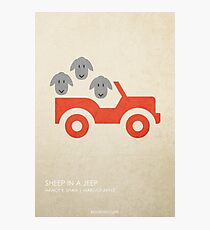 Sheep in a Jeep Photographic Print