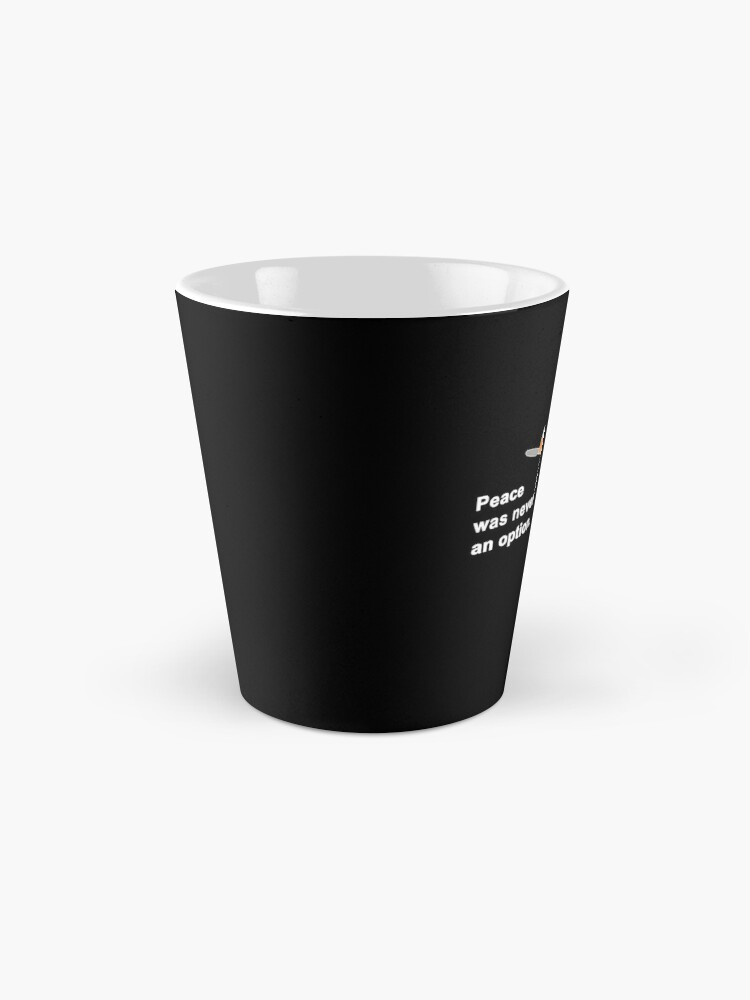 Alternate view of Peace Was Never An Option Goose Game Mug