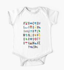 Alphabet Cute  One Piece - Short Sleeve