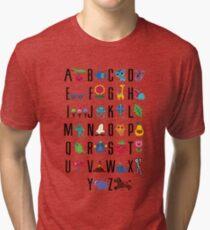 Alphabet Cute  Tri-blend T-Shirt