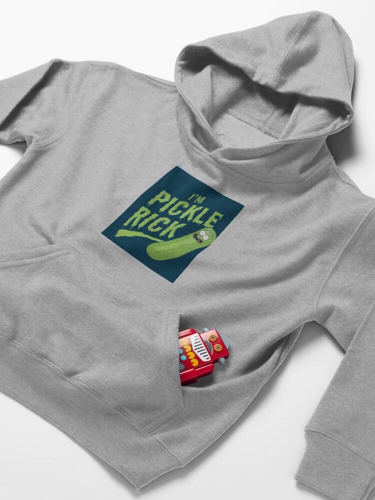 Alternate view of I am Pickle Rick Kids Pullover Hoodie