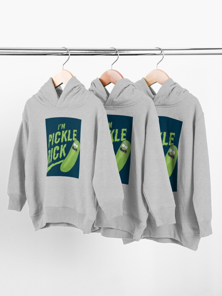 Alternate view of I am Pickle Rick Toddler Pullover Hoodie