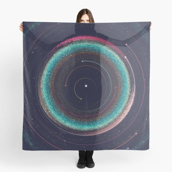 Asteroid Map of the Solar System Scarf