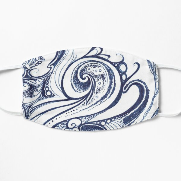 Winter Abstract Flat Mask