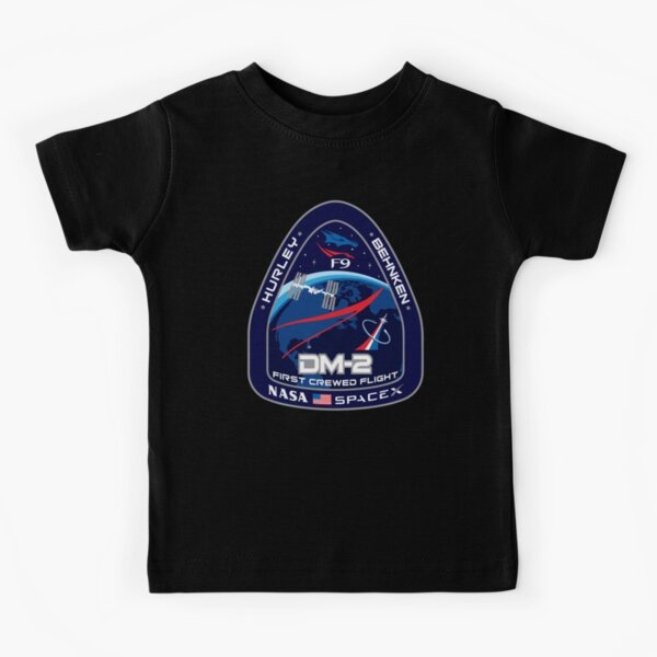 SpaceX Crew Dragon Demo-2 Mission, Nasa, Hurley, Behnken, DM-2 Kids T-Shirt