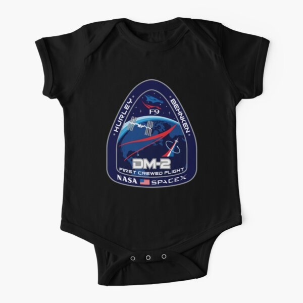 SpaceX Crew Dragon Demo-2 Mission, Nasa, Hurley, Behnken, DM-2 Short Sleeve Baby One-Piece
