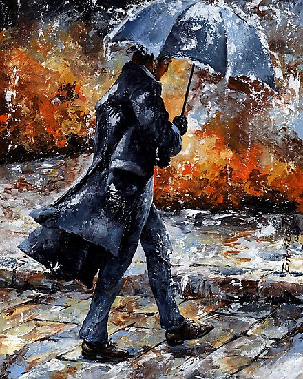 Rainy day 07 - Walking in the rain by Imre Toth (Emerico)
