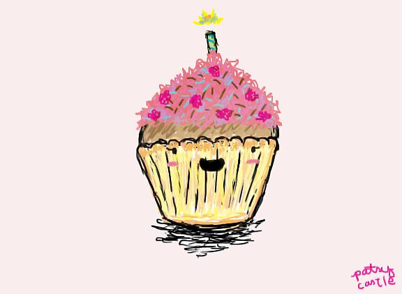 Happy Cupcake by Patsy Castle