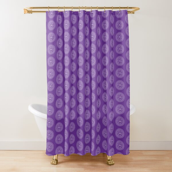 Crown Chakra Symbol Shower Curtain