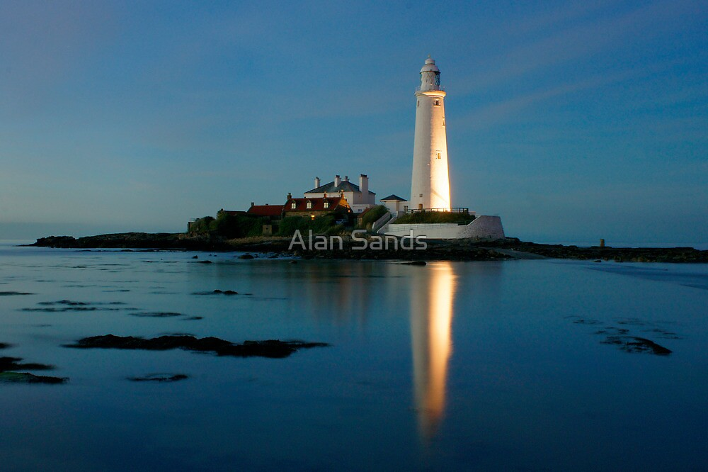 St. Mary's lighthouse by Alan Sands