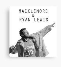 Macklemore and Ryan Lewis Inspired design UK Tour 2015 Metal Print