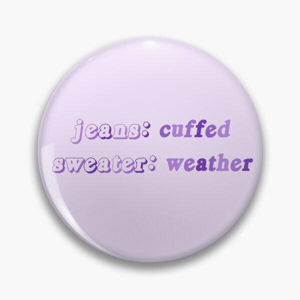 jeans à revers et pull météo Badge