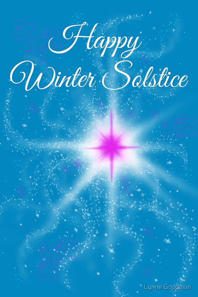 Winter Solstice - pink star in the night by Lynne Goodman